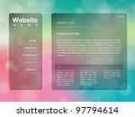 website design template with... | Shutterstock . vector #97794614