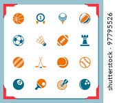 sport icons | Shutterstock .eps vector #97795526