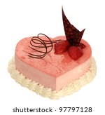 Cake In The Shape Of Heart Wit...