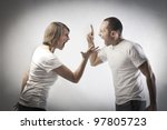 young couple arguing | Shutterstock . vector #97805723
