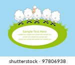 cute card design with fun sheep.... | Shutterstock .eps vector #97806938