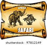 Africa  Safari  An Elephant ...