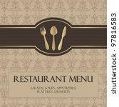 restaurant menu  with gold... | Shutterstock . vector #97816583
