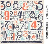 various retro vintage number... | Shutterstock .eps vector #97818674