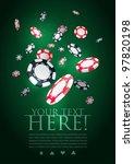 poker gambling chips poster... | Shutterstock .eps vector #97820198