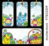 easter tags and banner. easter... | Shutterstock .eps vector #97823309