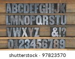 a old set of wooden printers... | Shutterstock . vector #97823570