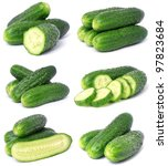 Cucumber collection - stock photo
