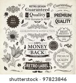 vector set  calligraphic design ... | Shutterstock .eps vector #97823846