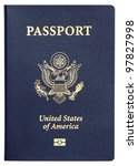 us passport isolated on white...