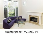 living room with sofa  glass... | Shutterstock . vector #97828244