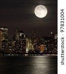Full Moon And Manhattan