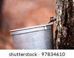 tapping maple trees for sap to... | Shutterstock . vector #97834610