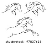 Stock vector steed 97837616