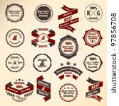 retro label collection | Shutterstock .eps vector #97856708