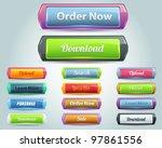 web elements vector button set | Shutterstock .eps vector #97861556