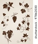 vector decorative grape vine... | Shutterstock .eps vector #97862030