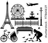 Paris Street Park Eiffel Tower...