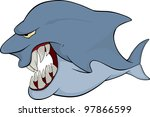 shark. cartoon | Shutterstock . vector #97866599