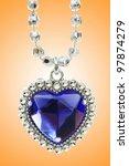 silver pendant against gradient ... | Shutterstock . vector #97874279