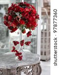 Wedding Vintage Table With Red...