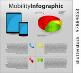 mobility info graphic with... | Shutterstock .eps vector #97884053