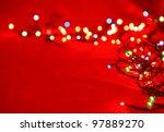 Christmas Lights On Red...