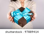 Woman Detail With A Gift Box I...