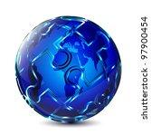 puzzle globe design | Shutterstock .eps vector #97900454