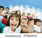 crowd of children  different... | Shutterstock . vector #97904924
