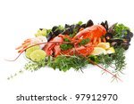 Fresh Seafood Dish With Lobster ...