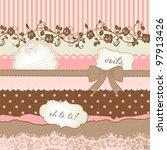 cute scrapbook elements | Shutterstock .eps vector #97913426