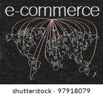business ecommerce written on... | Shutterstock . vector #97918079