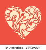 abstract floral heart. love... | Shutterstock .eps vector #97929014