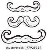 cartoon mustache collection | Shutterstock . vector #97929314