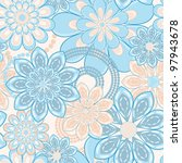 flower pattern seamless... | Shutterstock .eps vector #97943678