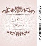 invitation card pink baroque | Shutterstock .eps vector #97943930