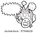flaming emoticon face cartoon | Shutterstock . vector #97948628