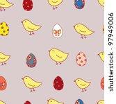 easter eggs in vector   Shutterstock .eps vector #97949006