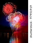 colorful firework in a night sky | Shutterstock . vector #97951919