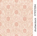 seamless background with easter ... | Shutterstock .eps vector #97957094