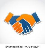 handshake abstract vector... | Shutterstock .eps vector #97959824
