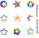 collection of star icons  vector   Shutterstock .eps vector #97959860