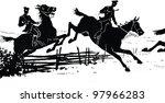 cossacks on horseback. hussar.... | Shutterstock . vector #97966283