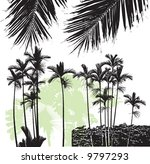 palm trees 01 | Shutterstock .eps vector #9797293