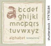 english alphabet in grunge style | Shutterstock .eps vector #97978184