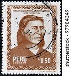 peru   circa 1985  a stamp... | Shutterstock . vector #97984349