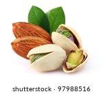 almonds with pistachio | Shutterstock . vector #97988516