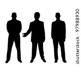 vector business man silhouette | Shutterstock .eps vector #97988930