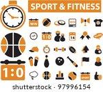 sport   fitness icons  vector | Shutterstock .eps vector #97996154